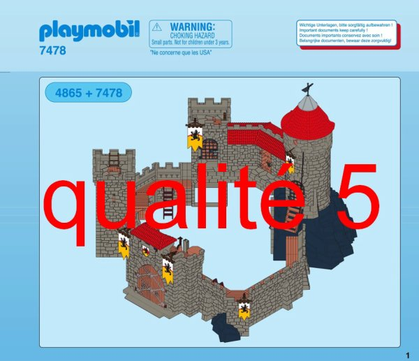 Articles de boblebrestois playmobil tagg s notice for Plan chateau fort playmobil