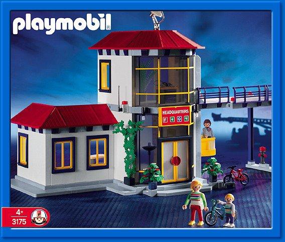 Articles de boblebrestois playmobil tagg s notice playmobil 3175 blog de boblebrestois les - Caserne de police playmobil ...