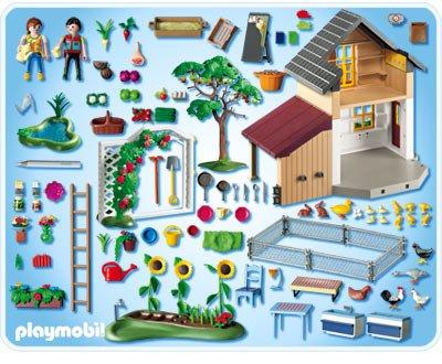 27a sp cial campagne ferme batiment basse cour 5120 maison des fermiers et boutiques - Plan maison de campagne playmobil ...