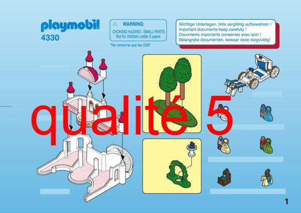 29a sp cial petit monde micro monde 4330 micro ch teau for Notice de montage chateau princesse playmobil