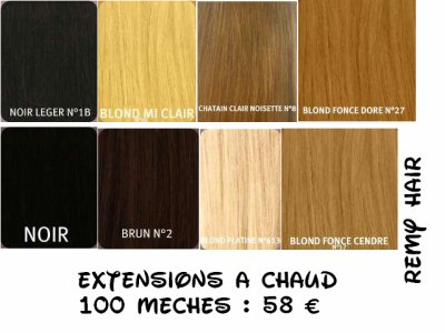 Extensions à chaud
