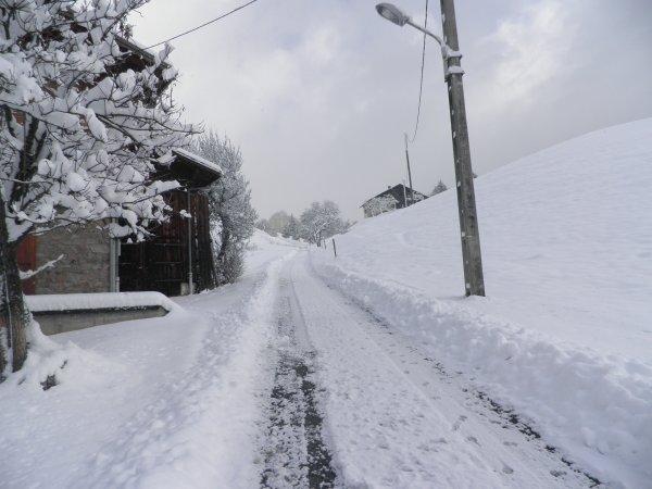 la neige et de retour .........