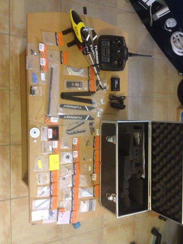Mon hélico brushless HK 250 full option ALIGN Trex 250 et carbone !!