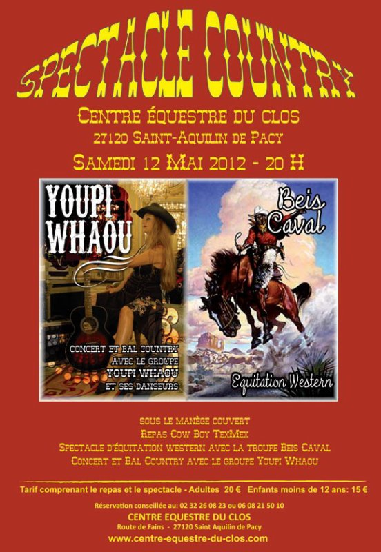 SPECTACLE COUNTRY  LE 12 MAI 2012