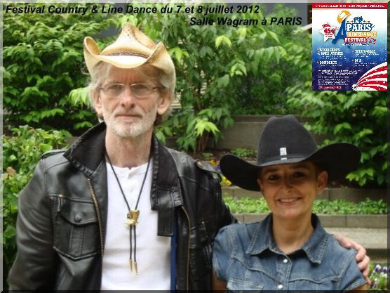 Peter95 et Christine au festival country line dance  a Paris