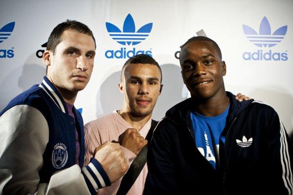 Brahim Asloum et sa team de boxe du Paris United !