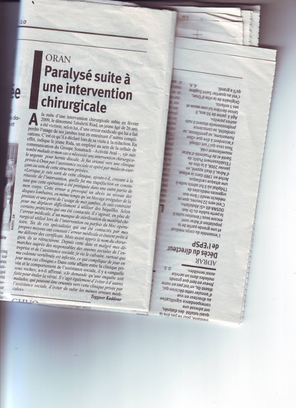 ARTICLE SUR MON CAS MEDICAL