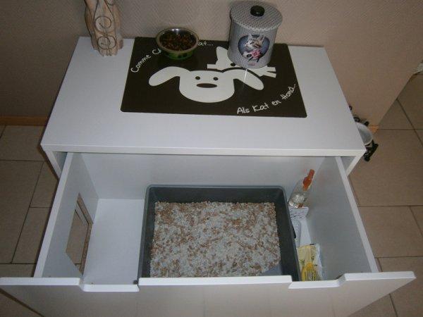 coffre jouet ikea am nag pour cache liti re ma passion les chats. Black Bedroom Furniture Sets. Home Design Ideas