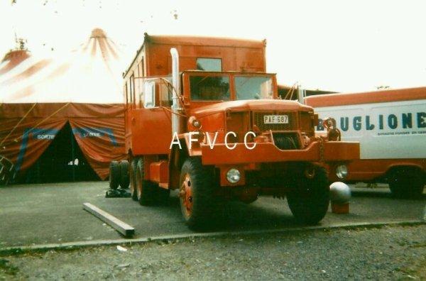 Les camion de cirque Alexandre Bouglione en Belgique
