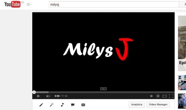 MilysJ YouTube