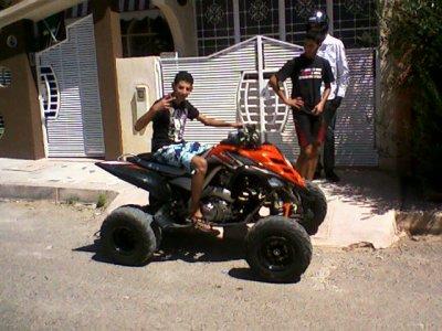 C Moi  en mode Quad Raptor 700R