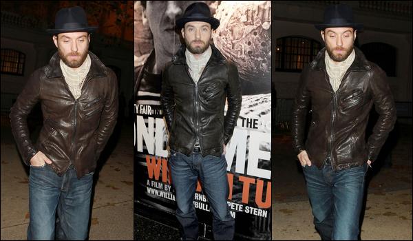 .Jeudi 17 novembre 2011: Jude à la première de Beyond Time à Londres.