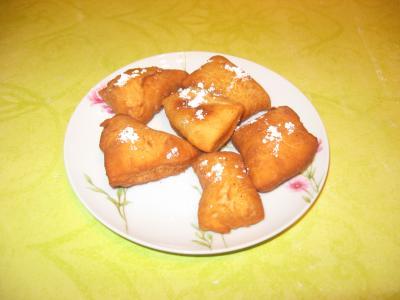 Les beignets de carnaval.............La recette de Sophie.