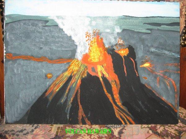 Peint d'après la carte postale de Janine qu'elle m'a envoyé d'HAWAI.