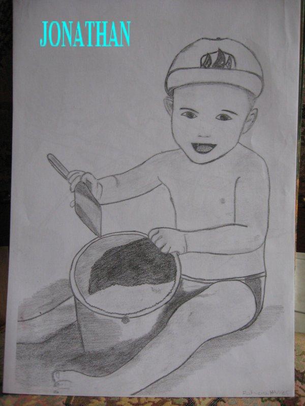 JONATHAN au crayon de papier