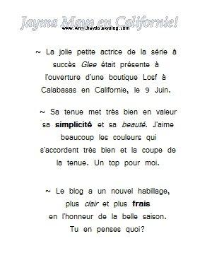 actualité ~ Apparition Publique 2011 > Jayma Mays