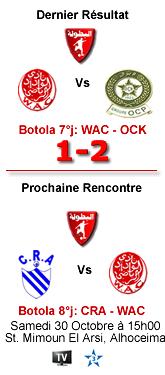 Botola: Le Wydad hôte d'Al Hoceima samedi à 15h00
