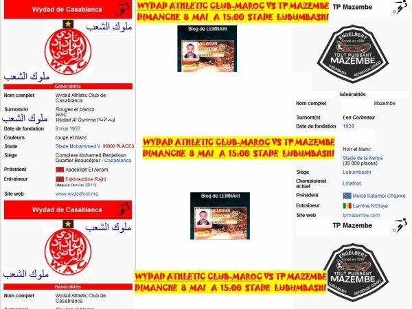 WYDAD ATHLETIC CLUB-MAROC VS TP MAZEMBE