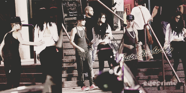 ♦ Justin et Selena ont été vu ensemble dans Los Angeles le 16/11 allant au restaurant Yamato.  ♦ Hier Justin été vu devant le Nokia Theater ou il s'est rendu pour les répétitions d'Américan Music Award 2012. Justin performera ce soir à 5h (heure française) avec Nicki Minaj.