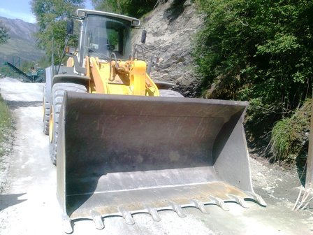 des machines vu au tour VTT au Valais