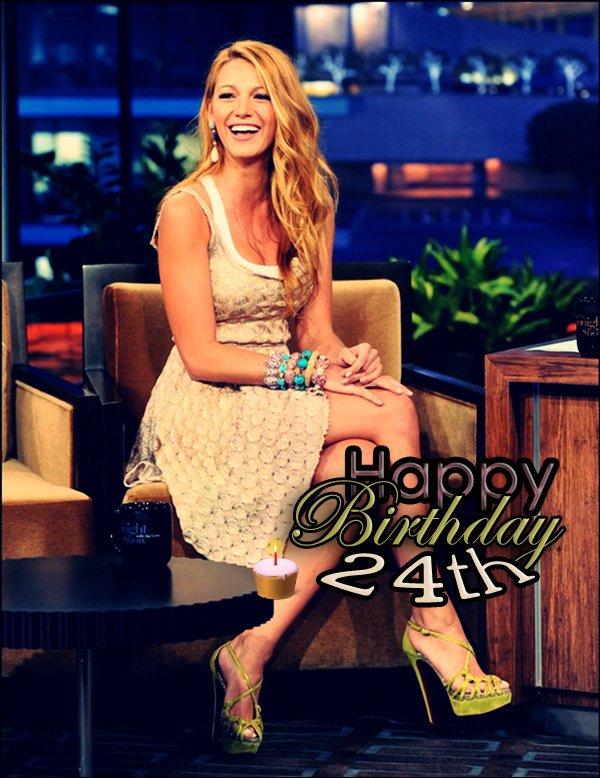 25 août 2011, je souhaite un Joyeux Anniversaire à Blake  qui fête ses 24 ans ! ♥