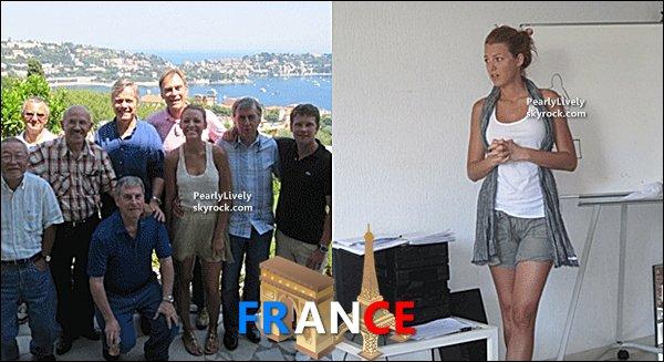 MAI 2011 : Blake prennant des cours de français lors de son séjour dans notre Pays.