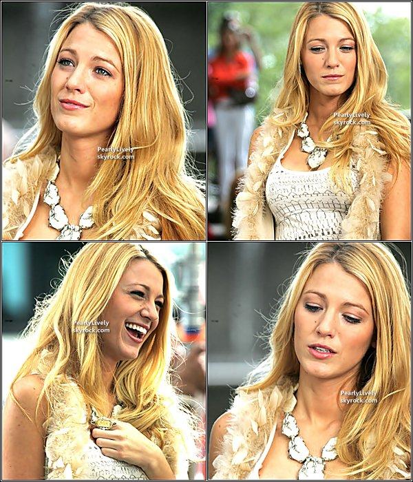 01 Septembre 2011 : Blake aperçut sur le set de « Gossip Girl » à New York.