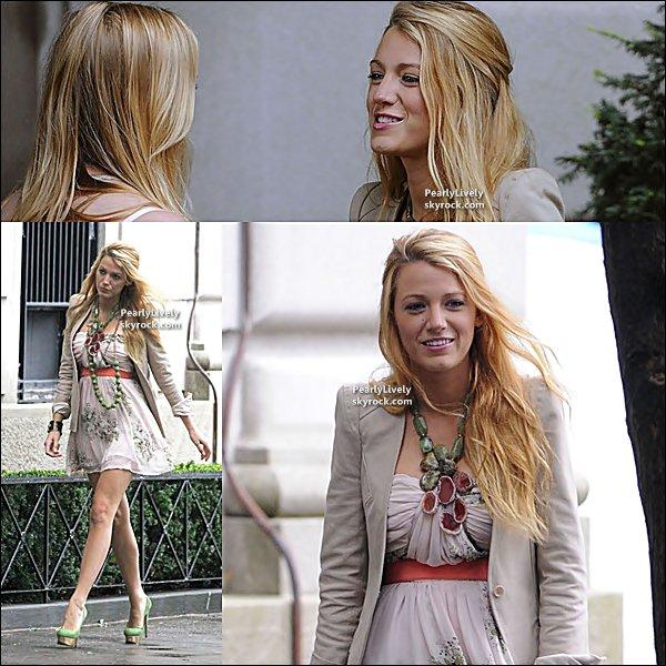 07 Septembre 2011 :  Blake aperçut sur le set de « Gossip Girl » à New York.