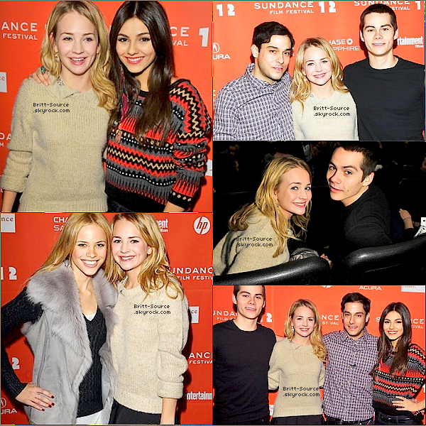 . 21/01/12 :  Britt était au « Festival Sundance Film ».  .