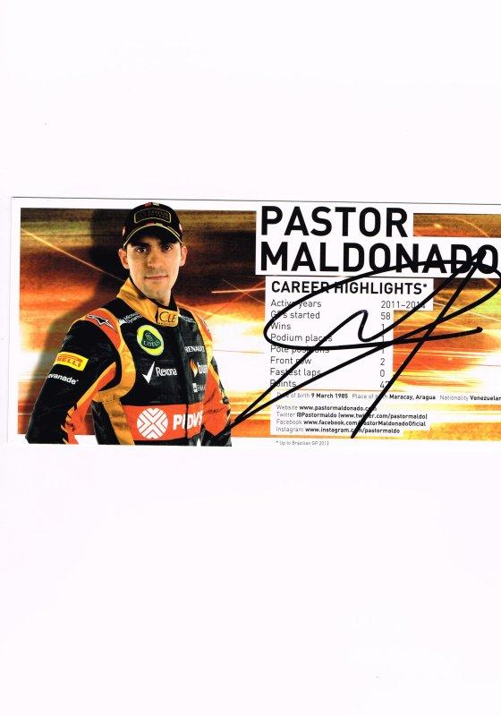 409. Pastor MALDONADO