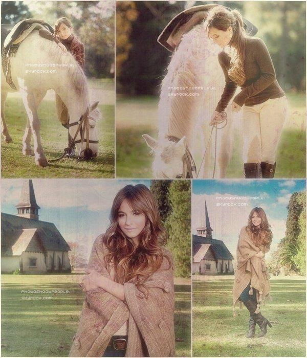 .  Brenda Asnicar posant pour le Magazine Hola Argentina .