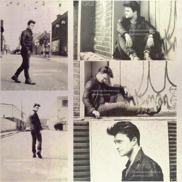 .  Daniel Radcliffe posant pour le Magazine British GQ .