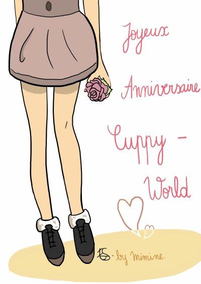 Dessin Pour les 1 an du blog de Cuppy-World :)