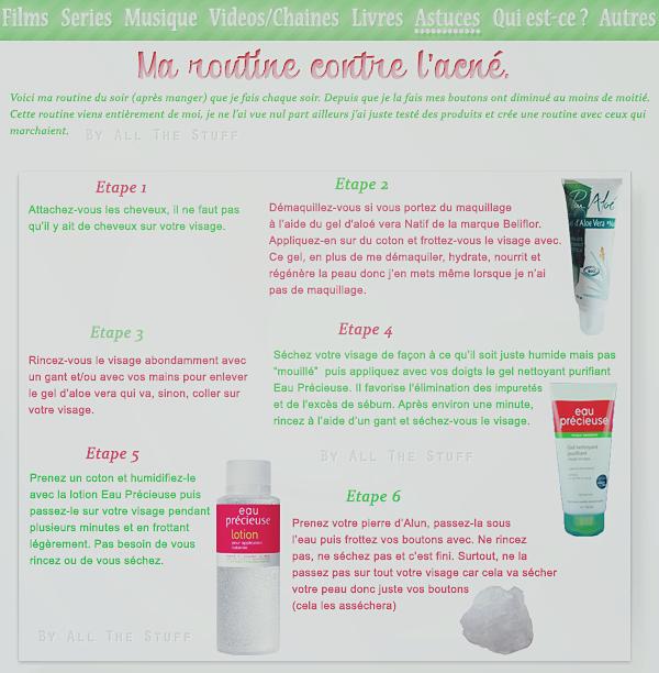 Ma routine contre l'acné