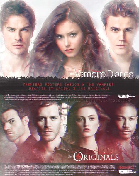 Posters promo S06 The Vampire Diaries et S02 The Originals