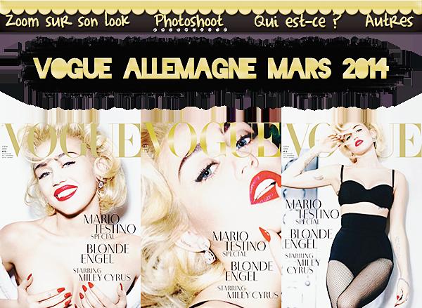 Photoshoot : Vogue Allemagne 2014