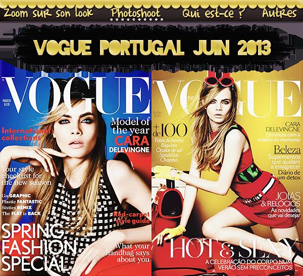 Photoshoot : Vogue Portugal Juin 2013