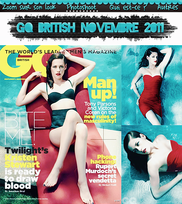 Photoshoot : GQ British Novembre 2011