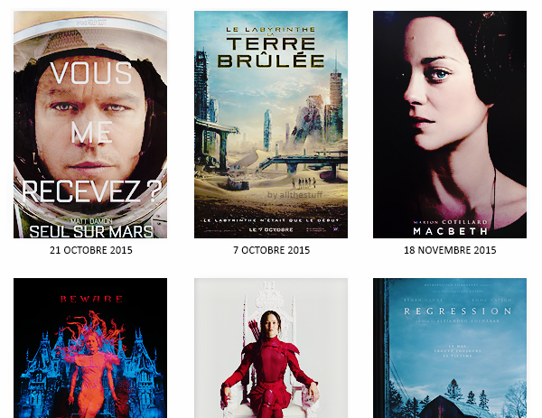 Les films que j'attends avec impatience. (3)