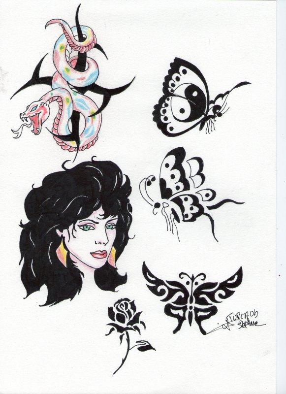 model de dessin pour tatouage