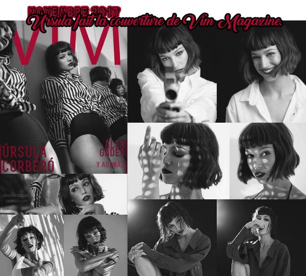 novembre 2017 : ursu fait la couverture de vim magazine