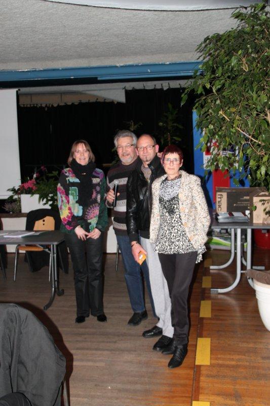 """30 janvier 2015 : mise à l'honneur d'un couple de bénévole chez """"Route 66"""""""
