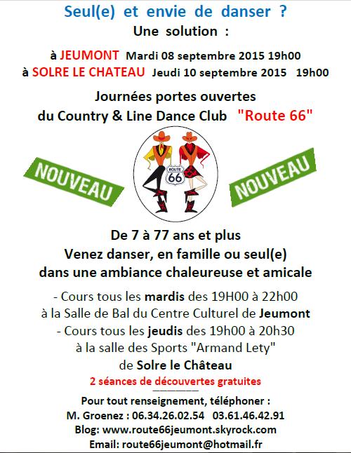 """2 Portes ouvertes le 08 et 10 septembre du Country Club & Line Dance """"Route 66"""""""