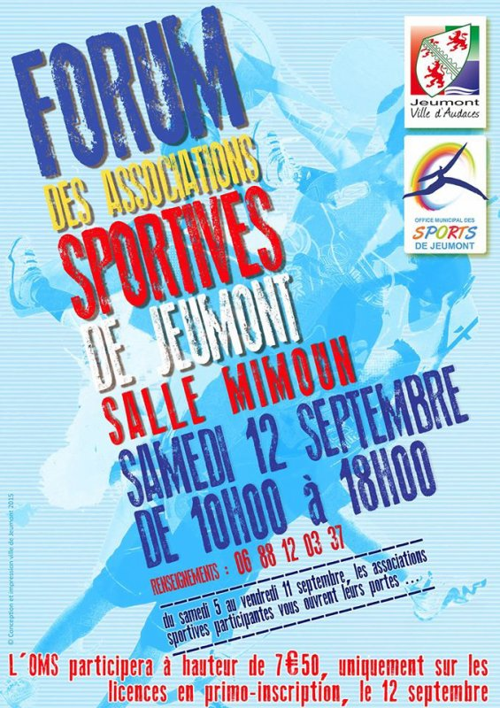 12 septembre 2015 : Forum des associations à Jeumont