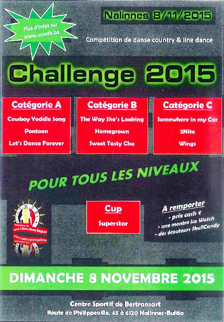 08 novembre 2015 : Participation au Challenge de Belgique