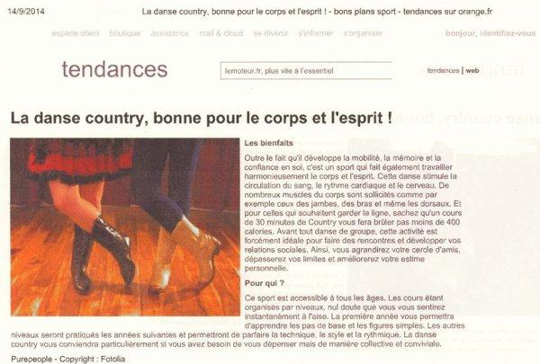 La danse Country, bonne pour le corps et l'esprit ! (article)