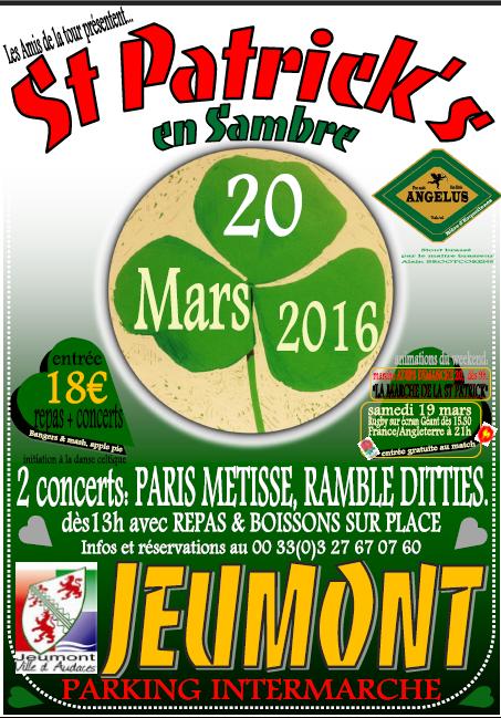 20 mars 2016: Démo pour la St Patrick