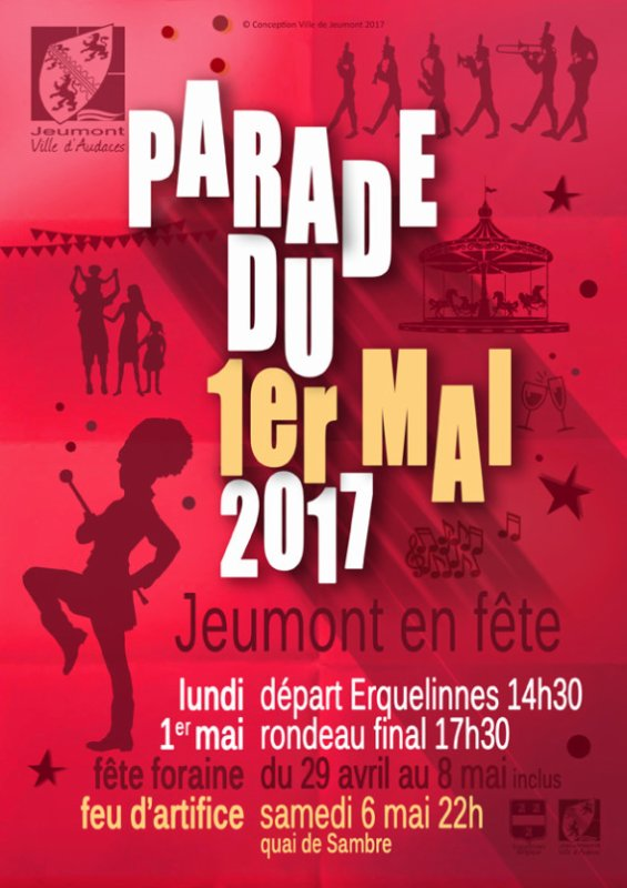 1er mai 2017 : Parade sans frontière Jeumont-Erquelinnes