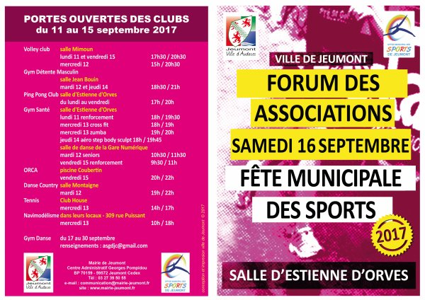 16 septembre 2017 : Forum des associations à Jeumont