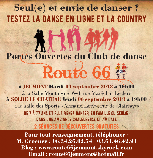 """Portes ouvertes du Club """"ROUTE 66"""" 04 et 06 septembre 2018"""